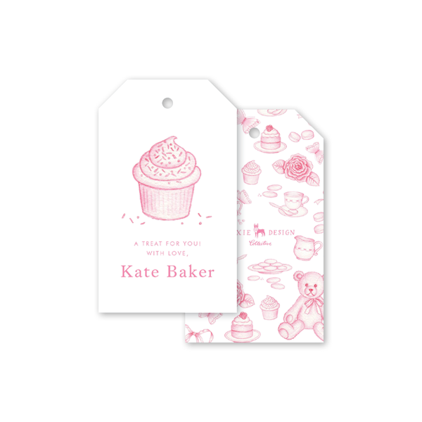 Sugar and Spice Pink Cupcake Gift Tags