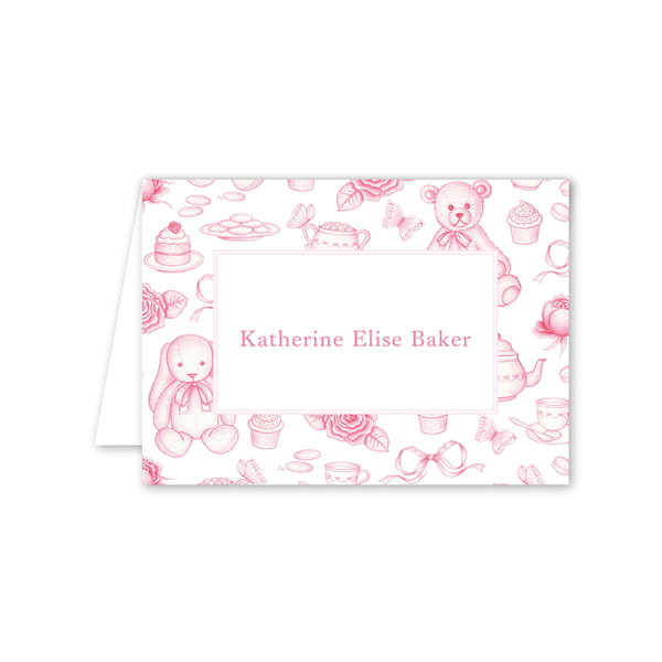 Sugar and Spice Pink Folded Notecard