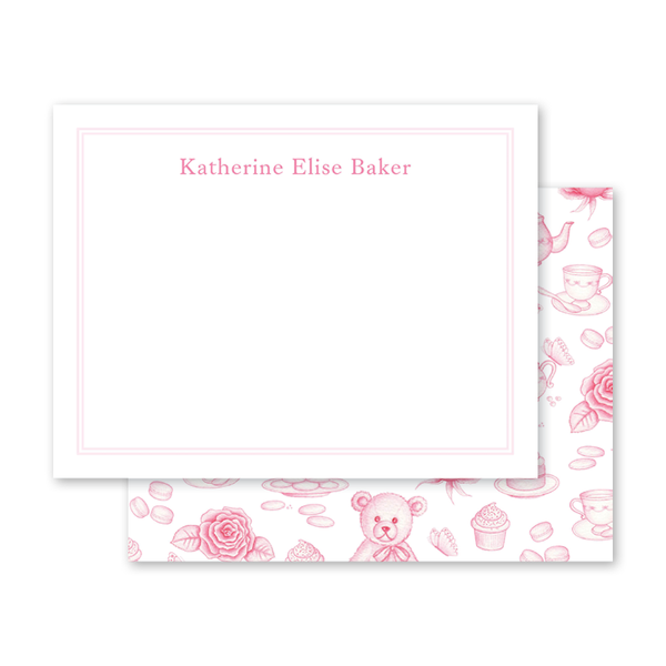 Sugar and Spice Pink Notecard
