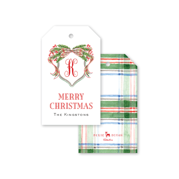 Watercolor Tartan Gift Tags