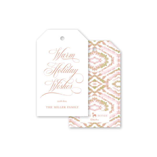 Morocco Blush Holiday Gift Tags