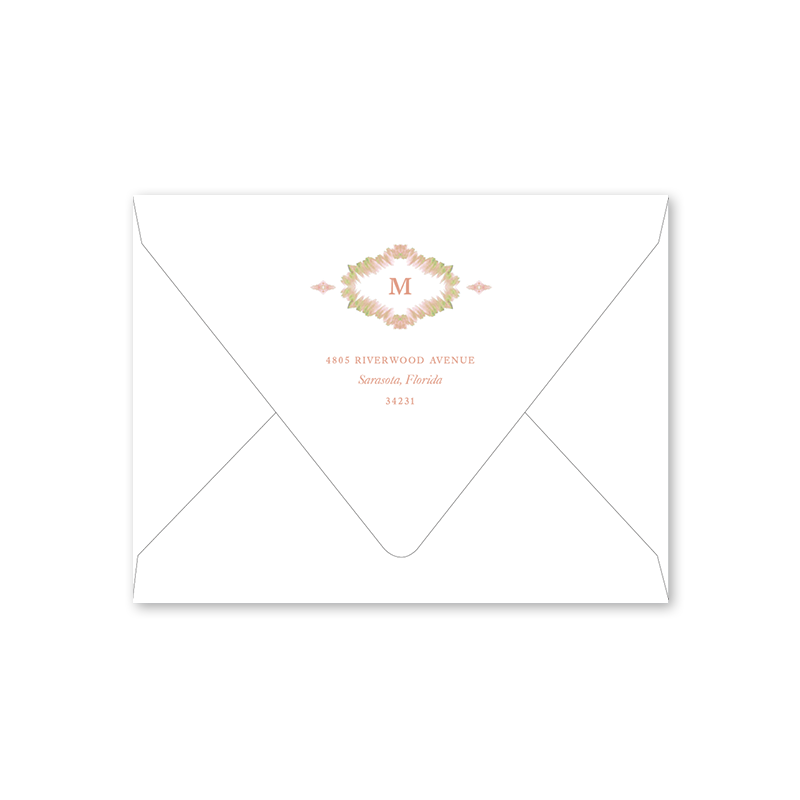 Morocco Blush Landscape Folded Envelopes