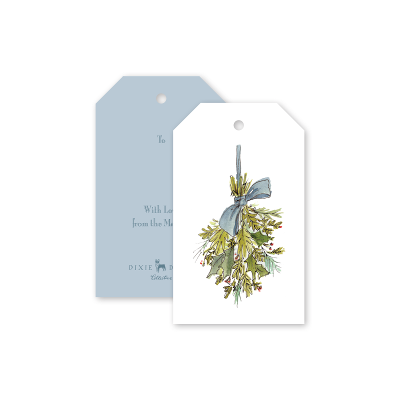 Deck the Halls Greenery Gift Tags