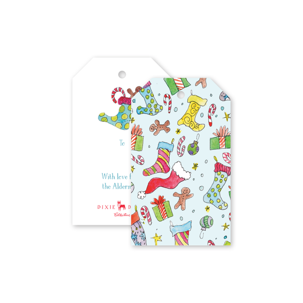 Stockings and Presents Gift Tags