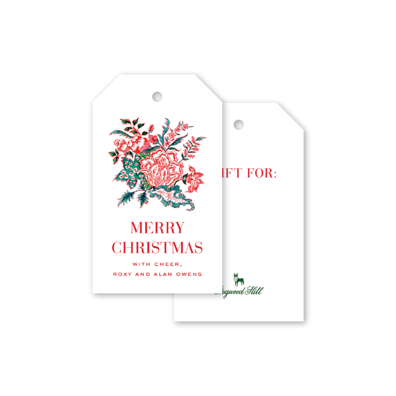 Ruby Chintz Gift Tags