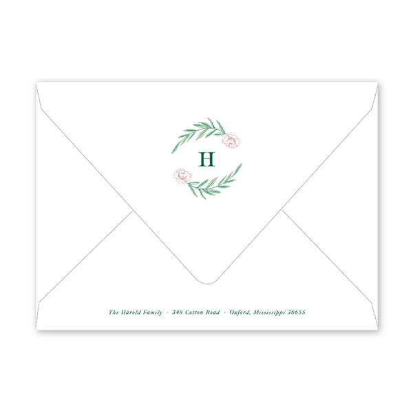Caroline's Garden Birth Announcement Envelopes