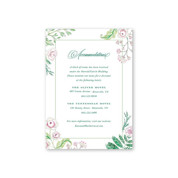 Caroline Accommodations Card