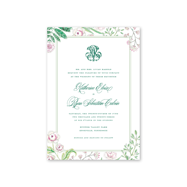 Caroline Wedding Invitation