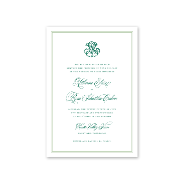 Caroline Monogram Wedding Invitation