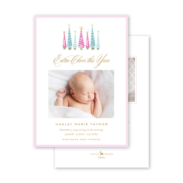 Festive Trees Birth Announcement