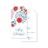 Red and Blue Floral Christmas Gift Tags