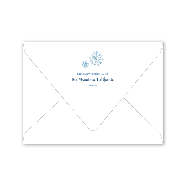 Snow Angels Birthday Envelopes
