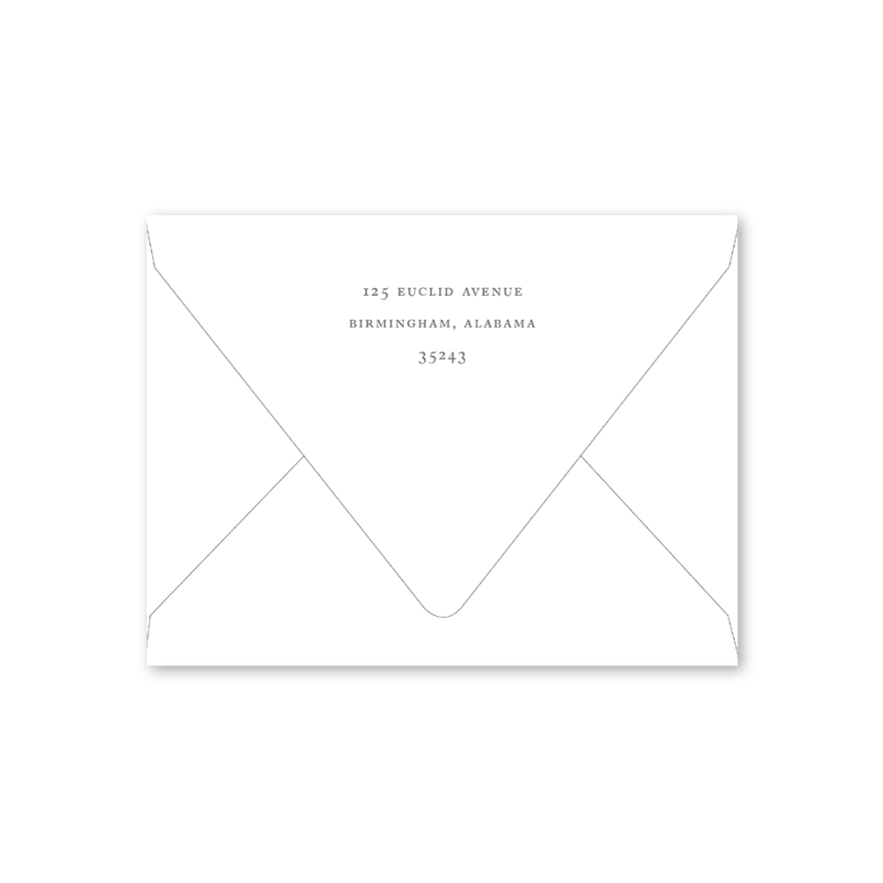 Lamb Baptistm Invitation Envelopes