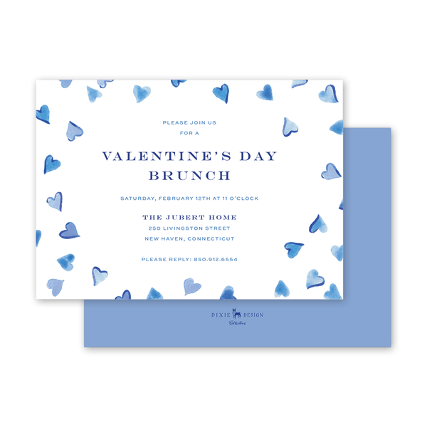 Cerulean Hearts Invitation