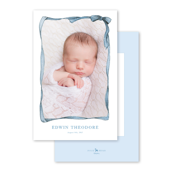 Bow Border Baby Blue