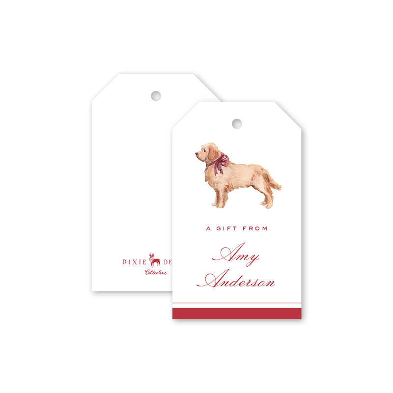 Bow Retriever Gift Tags