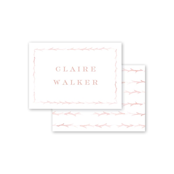 Branches Blush Calling Card