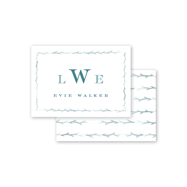 Branches Juniper Monogram Calling Card