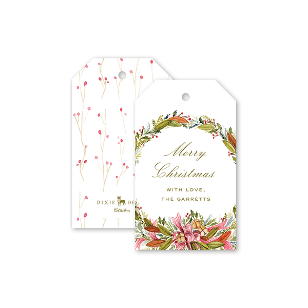 Christmas Bells Script Gift Tags