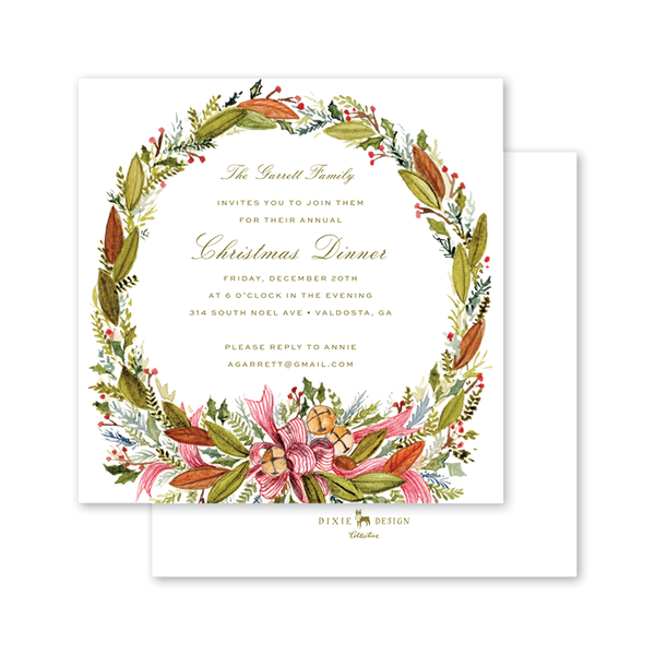 Christmas Bells Square Invitation