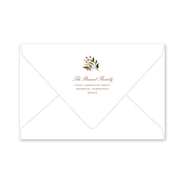 Holiday Flora Border Envelopes