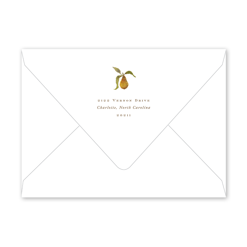 Holiday Partridge and Pear Envelopes