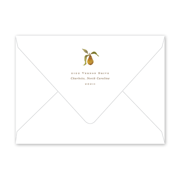 Holiday Partridge Crest Invitation Envelopes