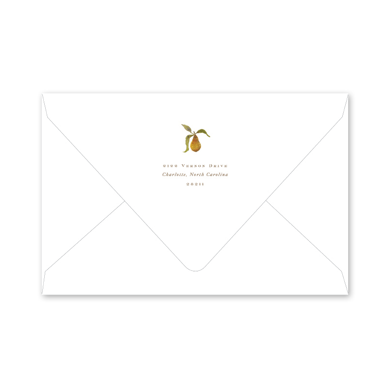 Holiday Partridge and Pear Photo Mount Envelopes