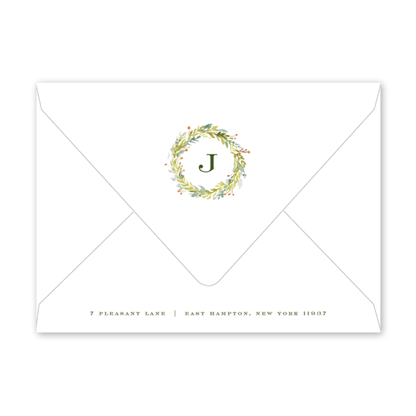 Pine and Berry Invitation Envelopes