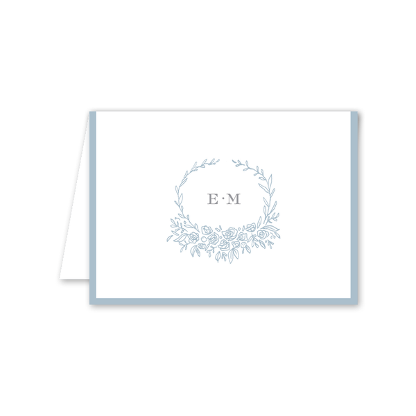Beverly Blue Folded Notecard