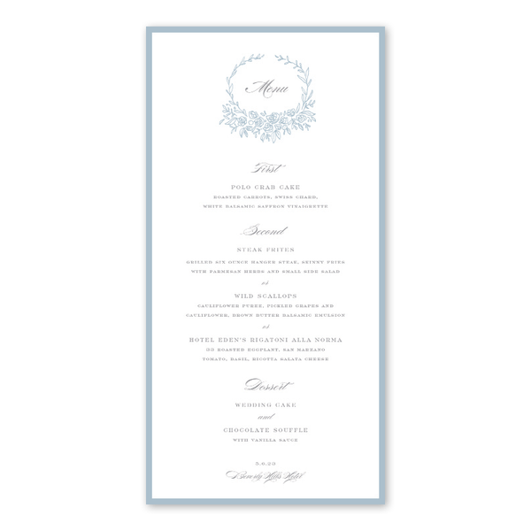 Beverly Blue Menu