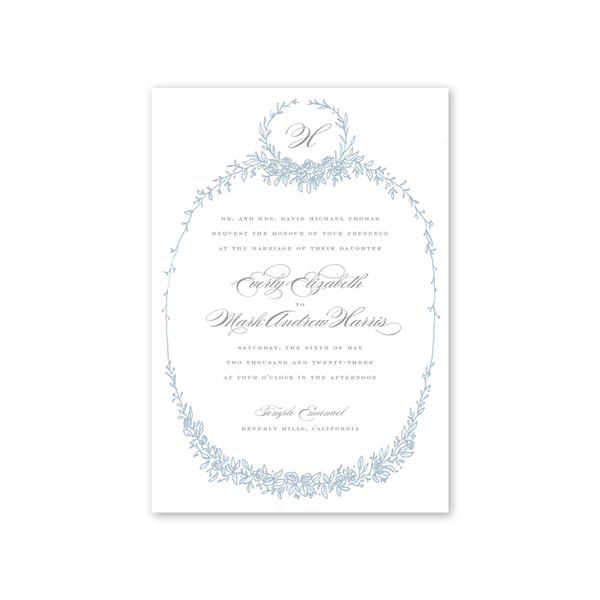 Beverly Blue Wedding Invitation