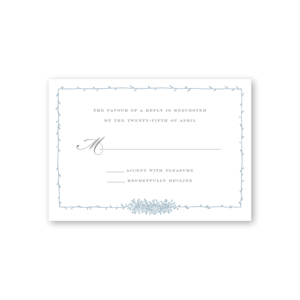 Beverly Blue Reply Card