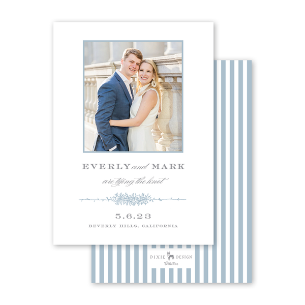 Beverly Blue Save The Date with Photo