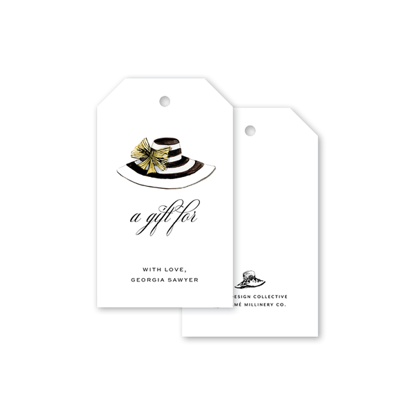 Derby Formé Stripe Gift Tags
