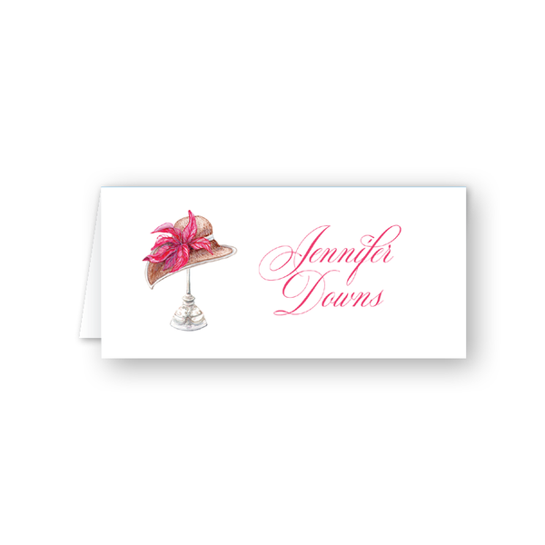Derby Formé Pink Place Card