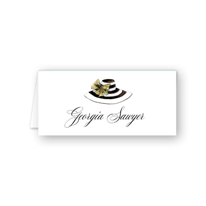 Derby Formé Stripe Place Card