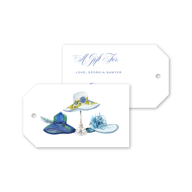Derby Formé Blue Gift Tags