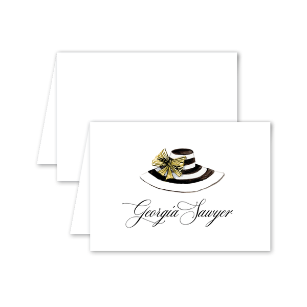 Derby Formé Stripe Folded Notecard