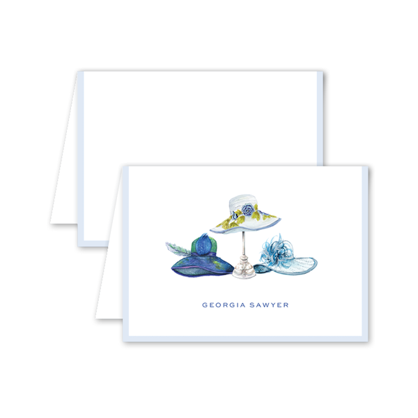 Derby Formé Blue Folded Notecard