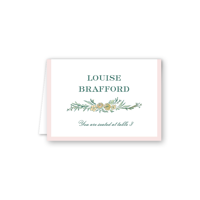 Brafford Escort Card