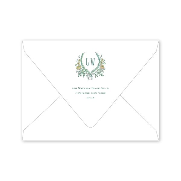Brafford Crest Save the Date with Photo Envelopes