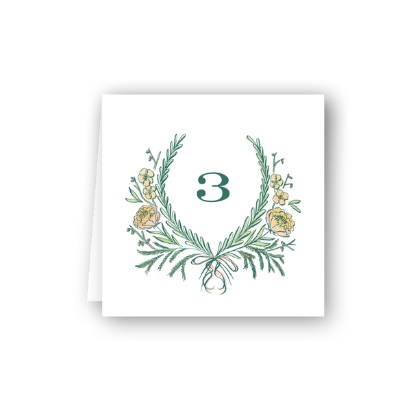 Brafford Table Numbers