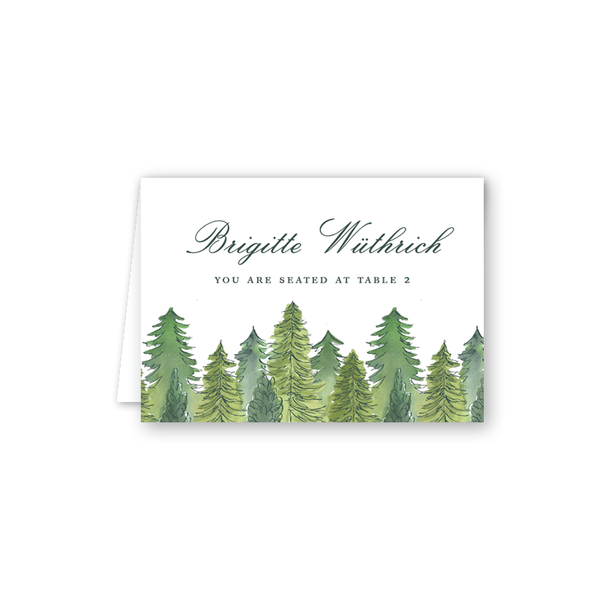Edelweiss Forest Escort Card