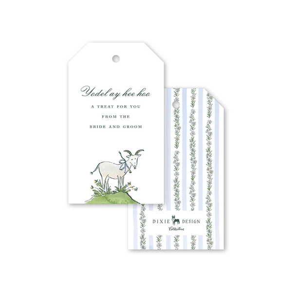 Edelweiss Goat Gift Tags