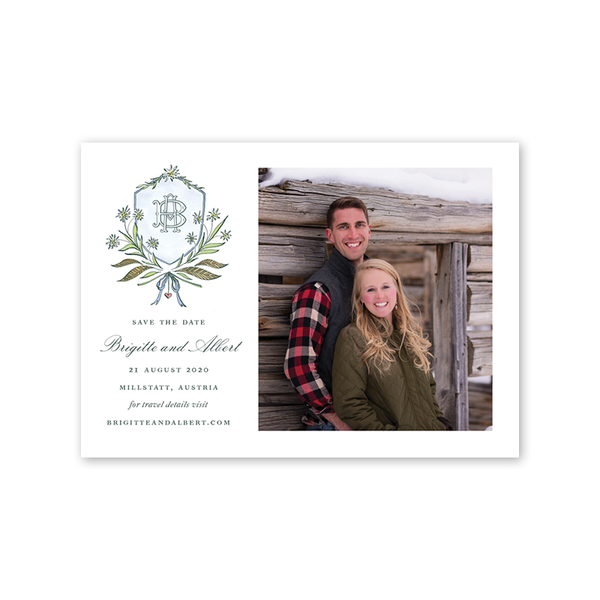 Edelweiss Save The Date with Photo