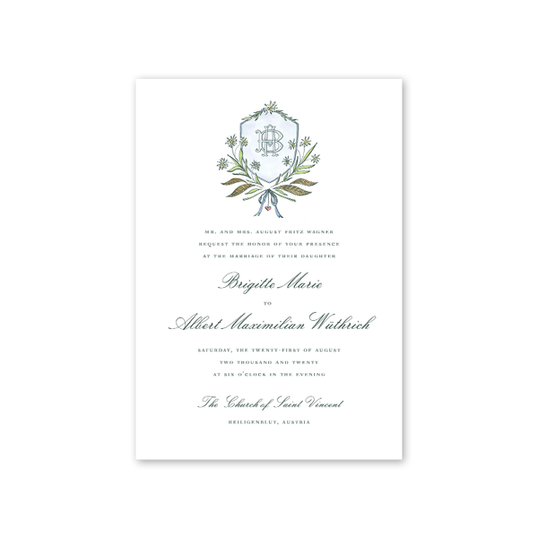 Edelweiss Wedding Invitation