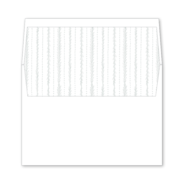 Virginia Wedding Invitation Envelope Liner