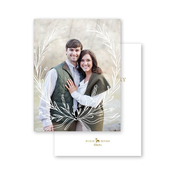 Virginia Wreath Save The Date with Photo