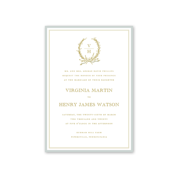 Virginia Wedding Invitation